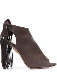 Sandales en cuir brunes Aquazzura