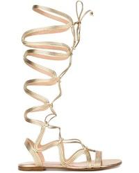 Sandales en cuir dorées Gianvito Rossi
