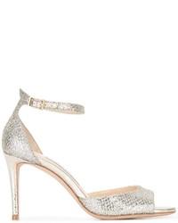 Sandales en cuir dorées Jimmy Choo