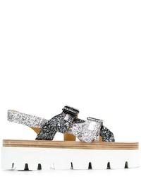 Sandales en cuir grises MM6 MAISON MARGIELA