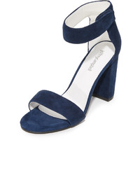 Sandales en daim bleues marine Jeffrey Campbell