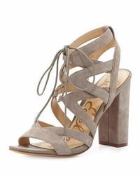 Sandales en daim brunes claires Sam Edelman