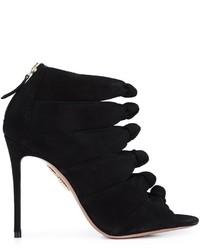 Sandales en daim noires Aquazzura
