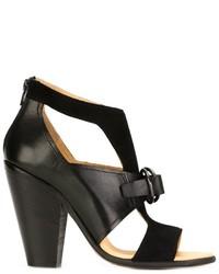 Sandales en daim noires MM6 MAISON MARGIELA