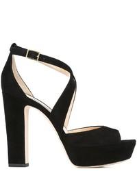 Sandales noires Jimmy Choo