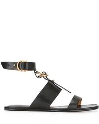 Sandales plates noires Chloé