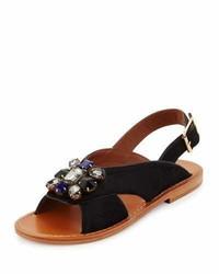 Sandales plates noires Marni