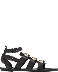 Sandales spartiates en cuir noires Proenza Schouler