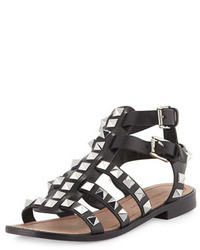 Sandales spartiates en cuir noires Rebecca Minkoff