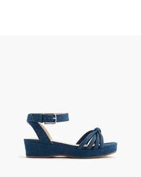 Sandalias azul marino de J.Crew