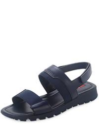 Sandalias azul marino de Prada