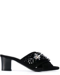 Sandalias con adornos negras de Lanvin