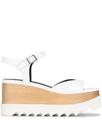 Sandalias con cuña blancas de Stella McCartney