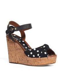 Sandalias con Cuña Negras de Dolce & Gabbana