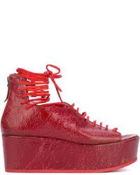 Sandalias con cuña rojas de Marsèll