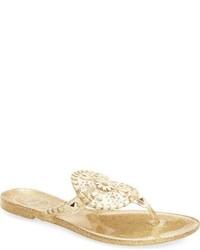 Sandalias con estampado geométrico doradas de Jack Rogers