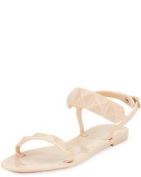 Sandalias con tachuelas marrón claro de Rebecca Minkoff
