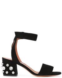 Sandalias de ante negras de Givenchy