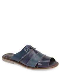 Sandalias de cuero azul marino de Bacco Bucci