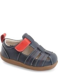 Sandalias de cuero azules de See Kai Run