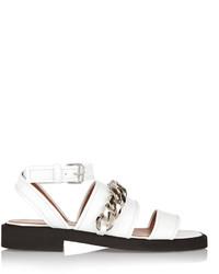 Sandalias de cuero blancas de Givenchy