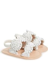 Sandalias de cuero blancas de Jack Rogers