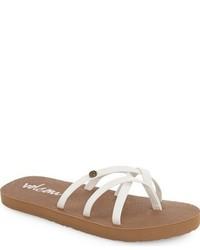 Sandalias de cuero blancas de Volcom
