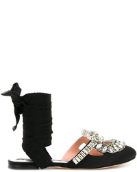 Sandalias de cuero con adornos negras de Rochas