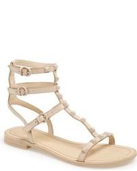 Sandalias de cuero con tachuelas marrón claro de Rebecca Minkoff