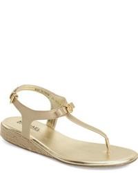 Sandalias de cuero doradas de MICHAEL Michael Kors