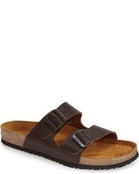 Sandalias de cuero en marrón oscuro de Naot Footwear