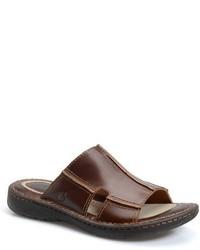 Sandalias de cuero en marrón oscuro