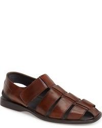 Sandalias de cuero en marrón oscuro de To Boot