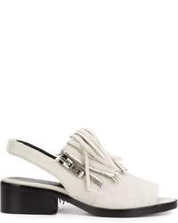 Sandalias de cuero grises de 3.1 Phillip Lim