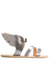 Sandalias de cuero grises de Ancient Greek Sandals
