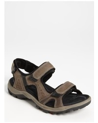 Sandalias de cuero grises de Ecco