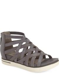 Sandalias de cuero grises de Eileen Fisher