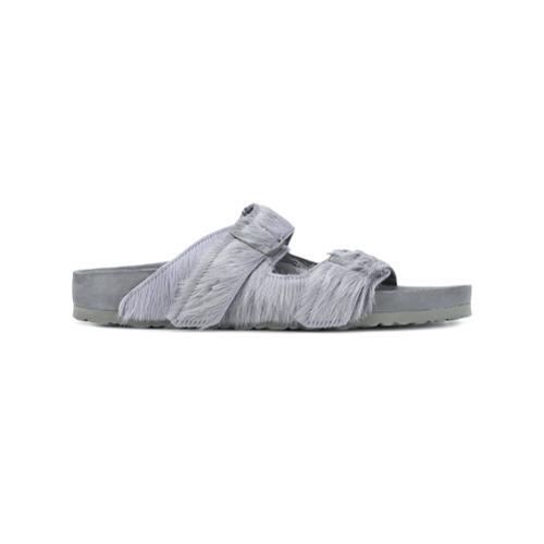 Sandalias de cuero grises de Rick Owens