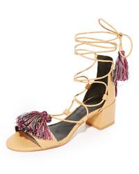 Sandalias de cuero marrón claro de Rebecca Minkoff