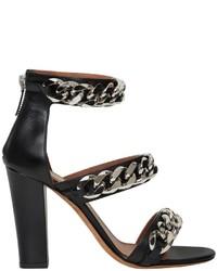 Sandalias de cuero negras de Givenchy