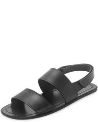 Sandalias de cuero negras de Prada