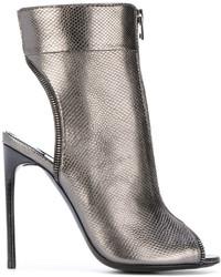Sandalias de cuero plateadas de Tom Ford