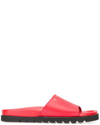 Sandalias de cuero rojas de Giuseppe Zanotti Design