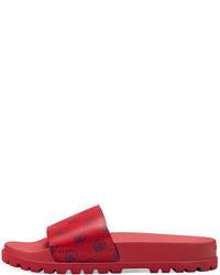 Sandalias de cuero rojas de Gucci