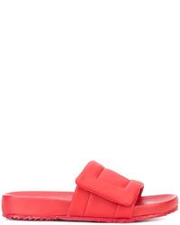 Sandalias de cuero rojas de Maison Margiela