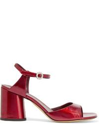 Sandalias de cuero rojas de Marc Jacobs