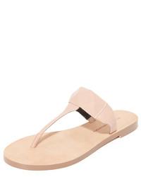 Sandalias de dedo con estampado geométrico marrón claro de Rebecca Minkoff