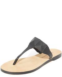 Sandalias de dedo con estampado geométrico negras de Rebecca Minkoff