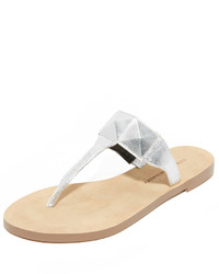Sandalias de dedo con estampado geométrico plateadas de Rebecca Minkoff