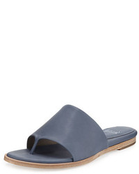 Sandalias de dedo de cuero azules de Eileen Fisher